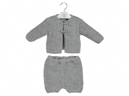 Grey Jacket and Short Set